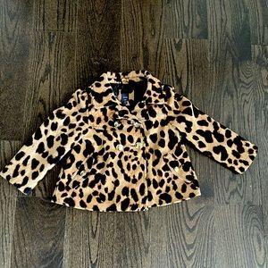 BabyGap Girl leopard jacket/coat 5T
